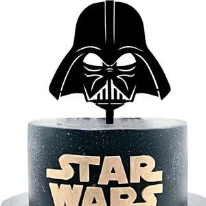 Large Acrylic Darth Vader Star Wars Cake Topper